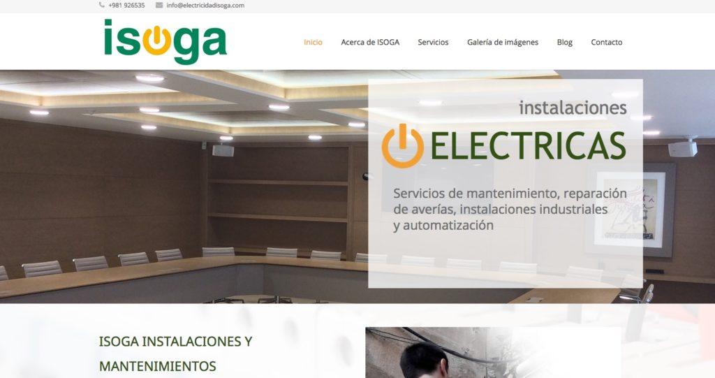Electricidad Isoga: instalaciones y mantenimientos